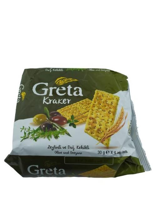 GRETA Crackers w/Olive Oil & Oregano 120g