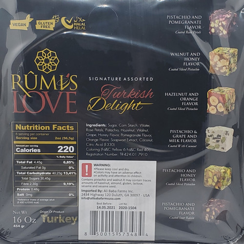 Turkish Delight Mixed Nuts by Rumi's Love - Product of Turkey - Halal - Vegan - Gluten Free 16 oz