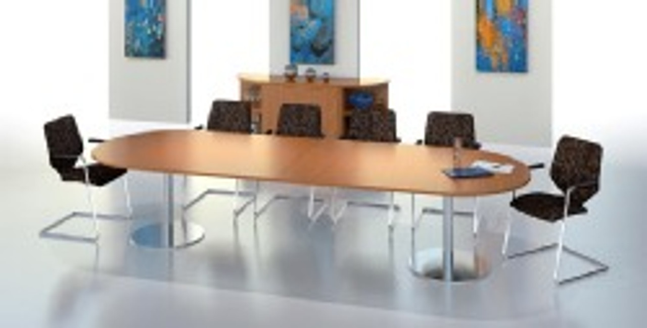 Ambus D-End Meeting Table