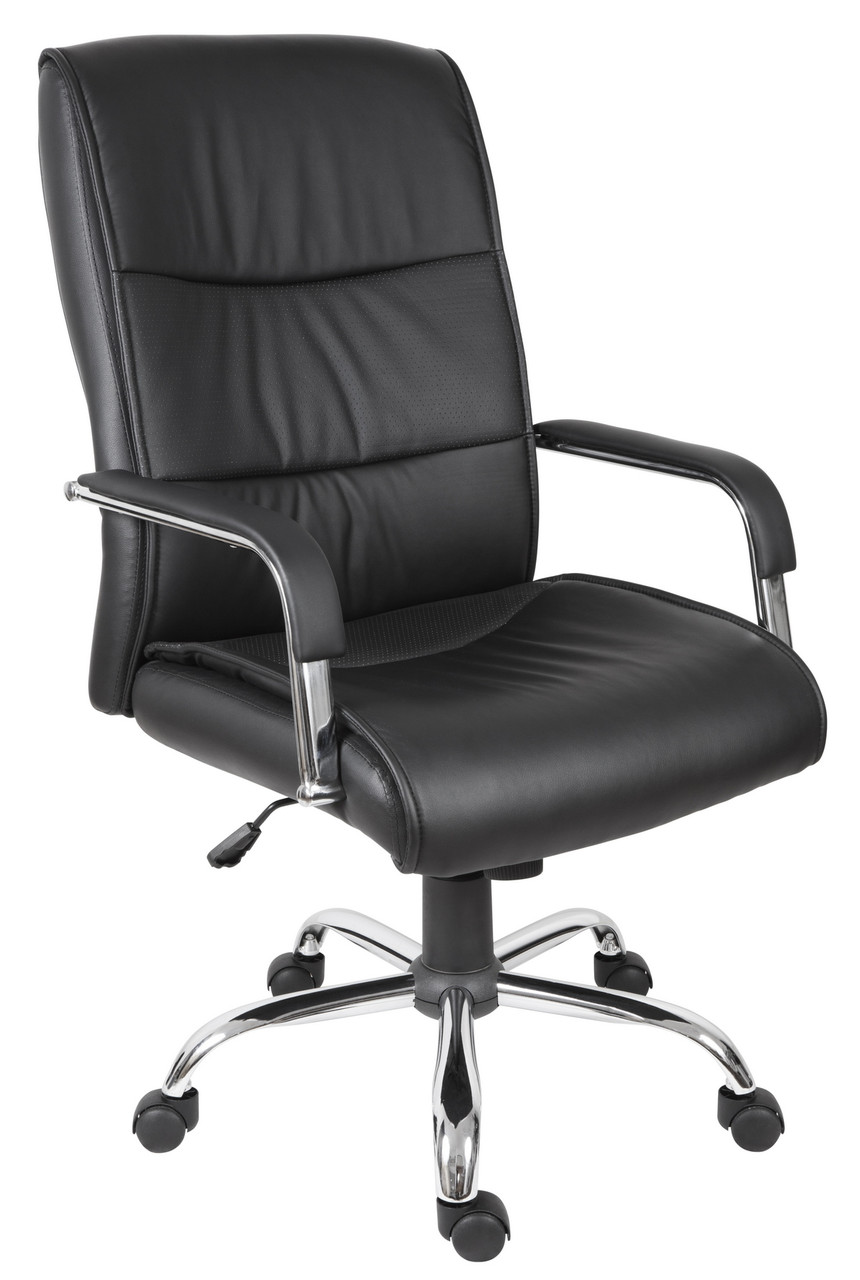 Cloud - Executive  office chair, Black faux leather