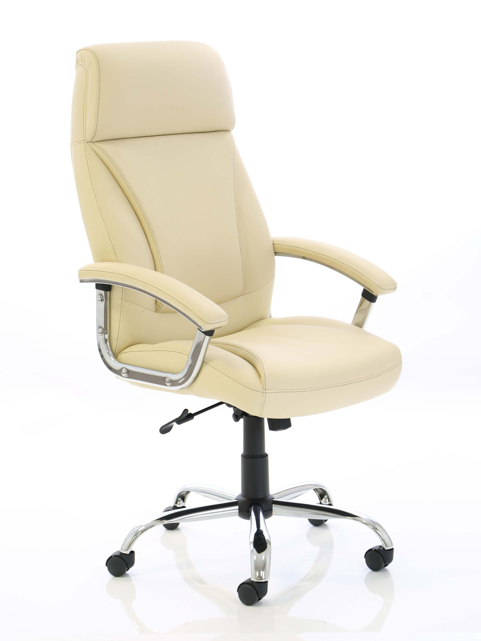 Penza - Executive Cream Leather Chair