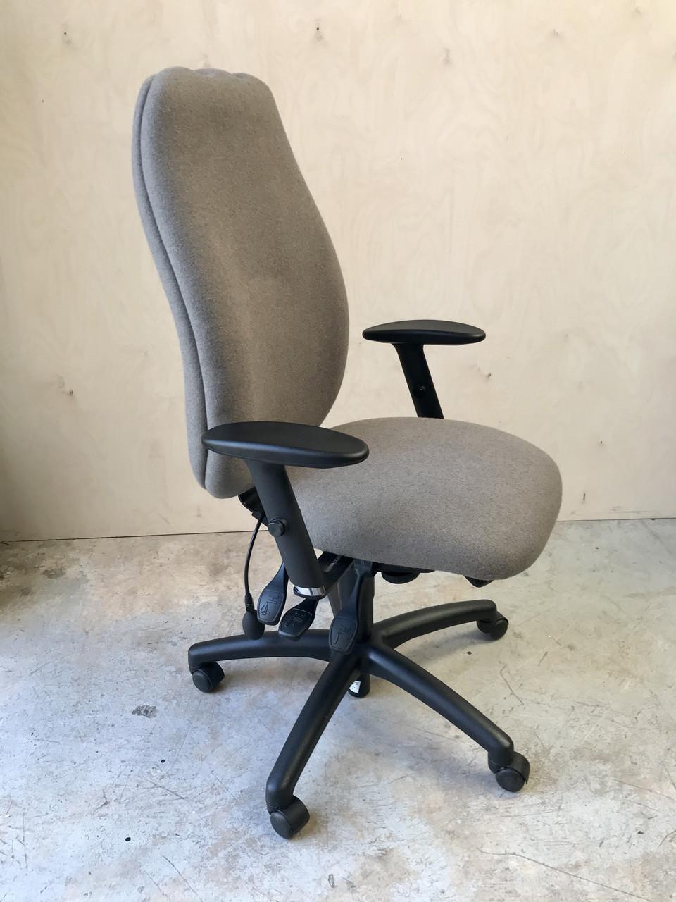 High back ergonomic chair in Grey fabric - UC06