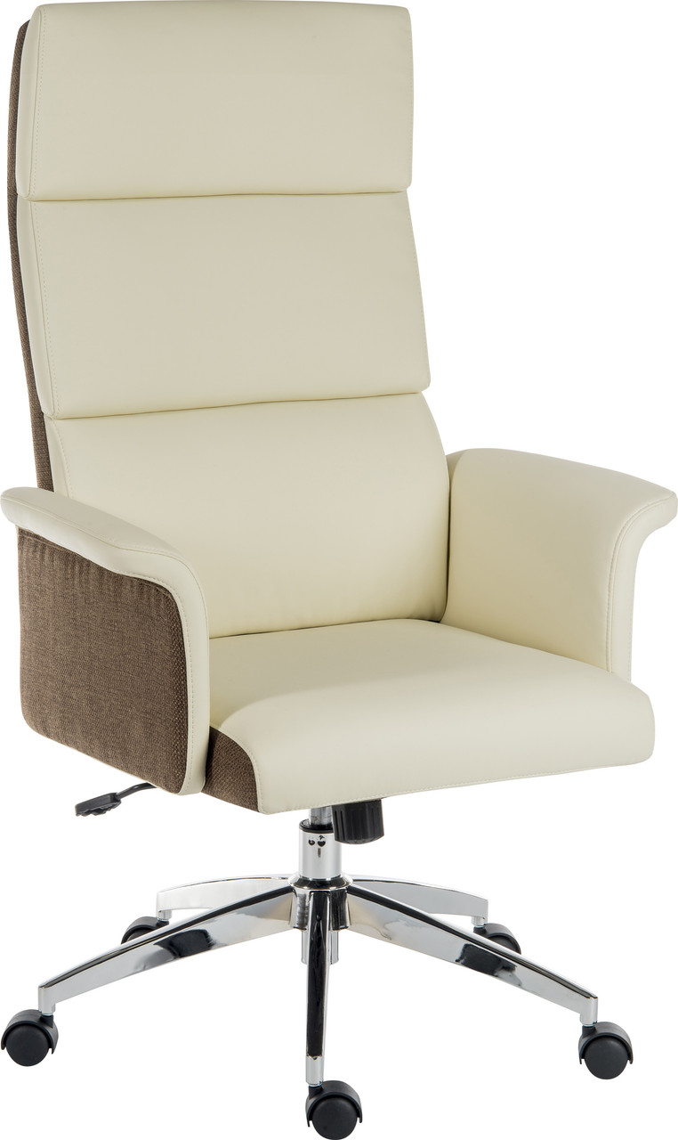 Elegance - High back executive Cream leather chair