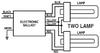 AC-2/26T4UVS1 2 Lamp Wiring