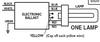 CSD-UV42PS AC Electronics Ballast - Single Lamp Wiring