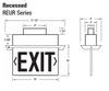Cooper REURA18R Exit Sign Specs