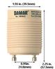Damar EB18-GU24-120V Dimensions