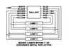 Universal USB-0816-14Sign Magnetic Ballast - 4 Lamp Wiring