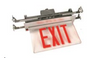 NYNYCELR-R Recessed Ceiling Mount Edge-lit Exit Sign