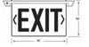 NYCELR-R Recessed Ceiling Mount Edge-lit Exit Sign Dimensions
