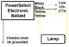 PowerSelect PS13U90T 35W/39W/50W/70W Electronic Metal Halide Ballast Wiring
