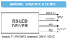 Hatch RS LED Series Wiring
