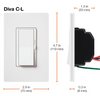 CW-1-WH Lutron Wall Plate with Dimmer