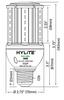 14 Watt LED Corn Cob Dimensions