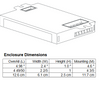 ICF-2S26-H1-LD Advance Ballast - Dimensions