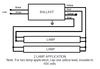 B332IHRVHB-E Triad® Ballast 2 Lamp Wiring