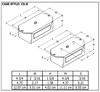 Robertson HP2627P Bottom Exit Studs - Dimensions