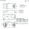 RACT18-500 RECOM Power LED Driver- Dimensions