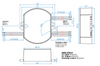 VLED25W-025-C1050-D Thomas Research LED Driver - Dimensions