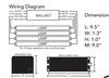 EPL4/32IS/MV/MC/HE Howard Ballast - Wiring / Dimensions
