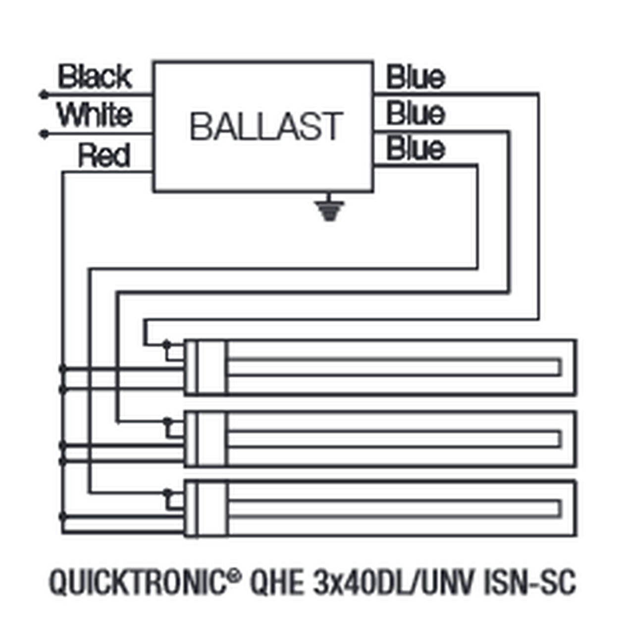 Qhe3x40dl Unv Isn Sc Sylvania 49430 Quicktronic Electronic Ballast