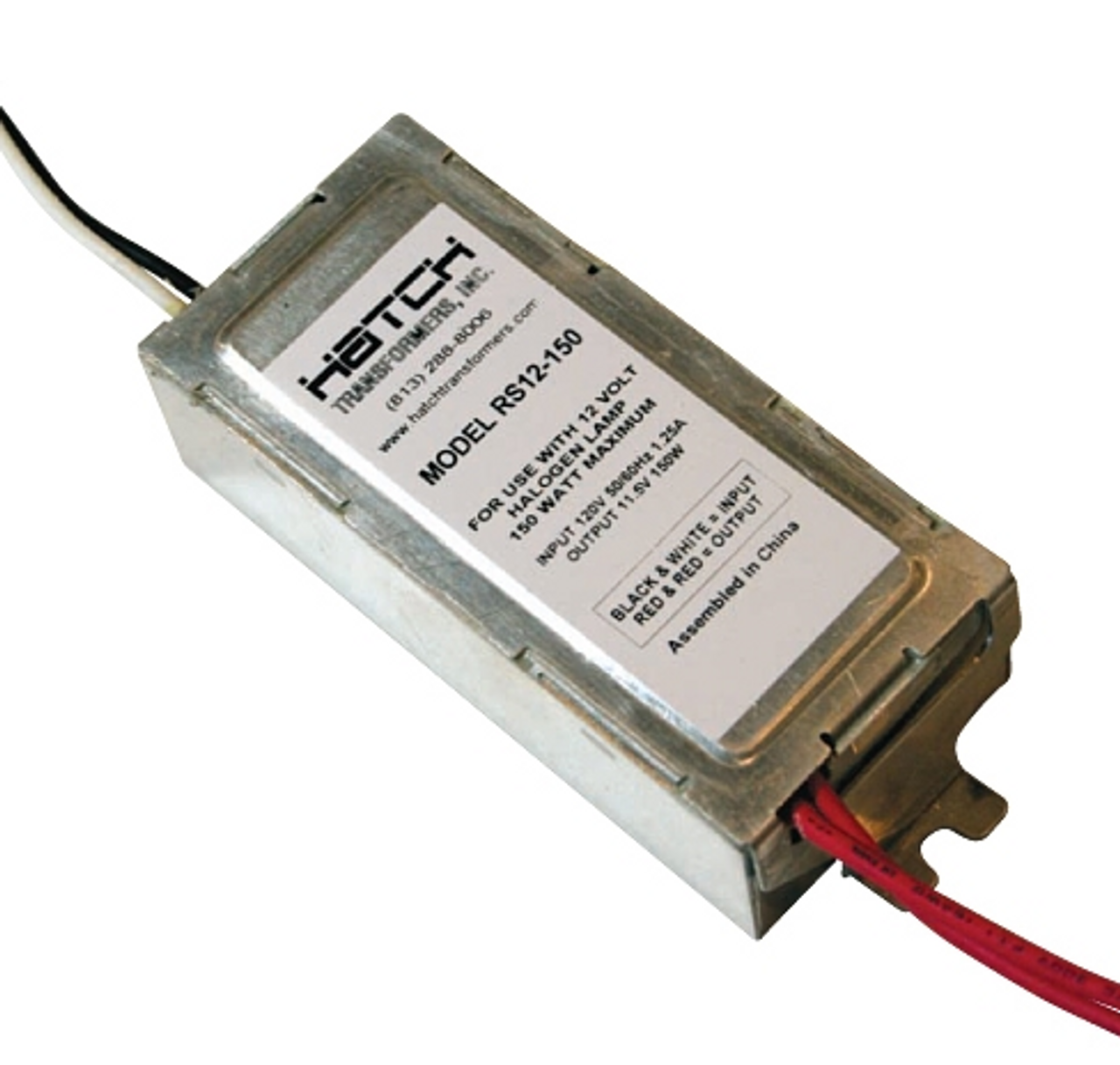 Hatch Rs12 150 Electronic Transformer 150w 12vac Side Exit Leads