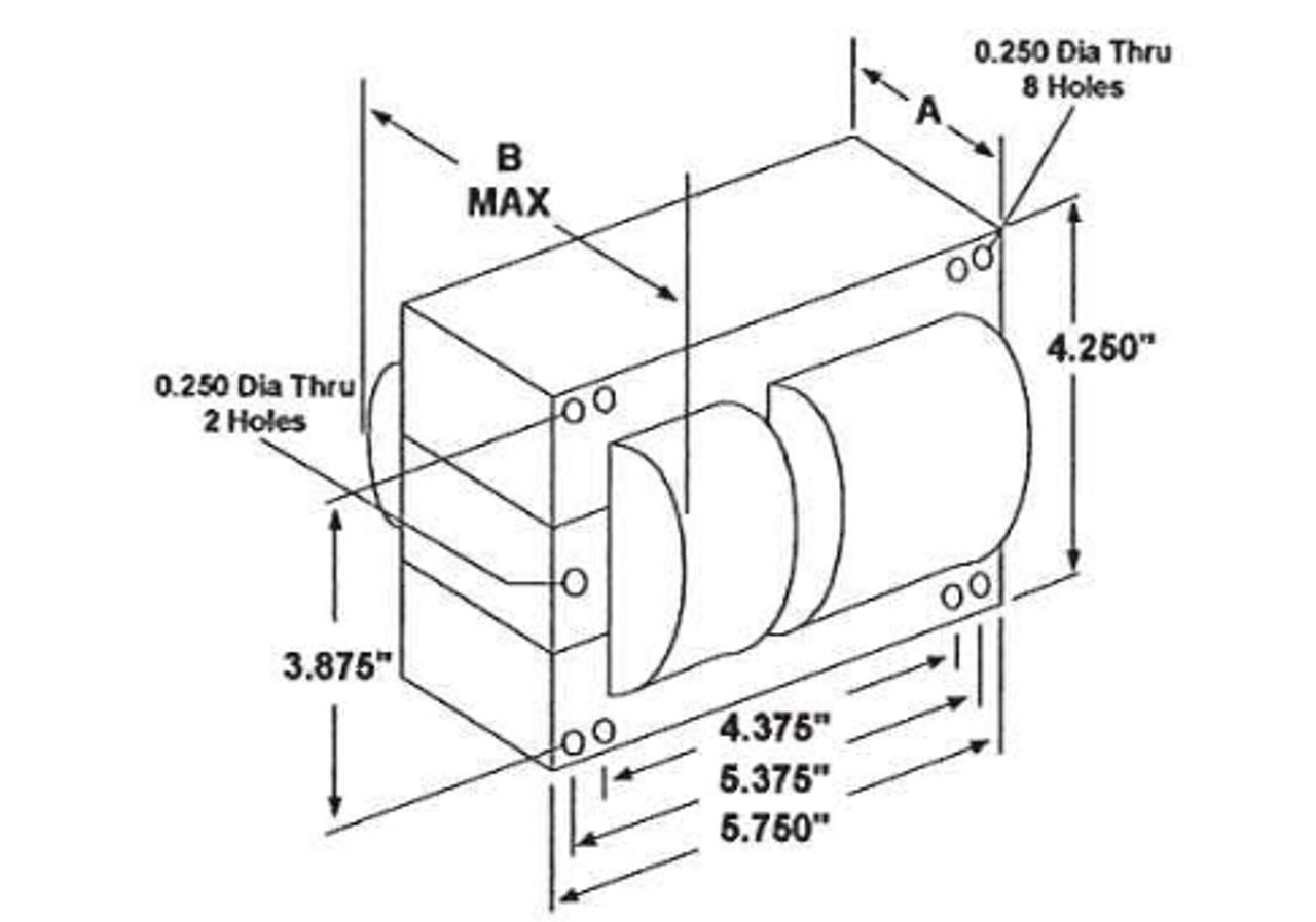 m1000ml5ac5m-500k universal metal halide ballast - dimensions