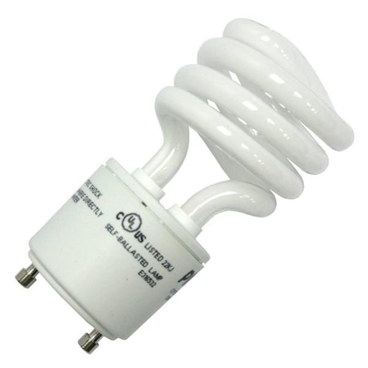 13 Watt CFL Fluorescent Light Bulb Lamp CF13ET2//SP//GU24//841 Plusrite 4282 4100K