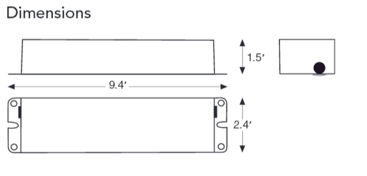 BAL500 Flourescent Emergency Ballast 120//277 VAC Howard Lighting 450 Lumens