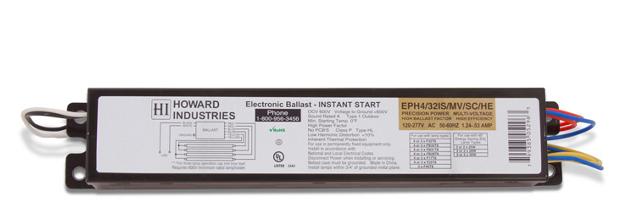 Howard Lighting Industries Ballast EP2//32IS//MV//MC//HE Brand New Sealed
