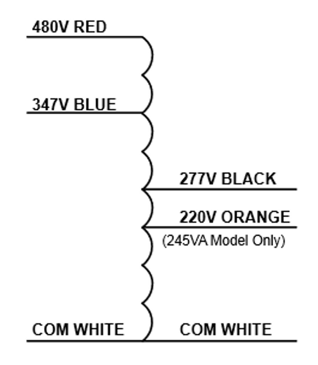TRP 480:347:277-460VA Step Down Transformer on