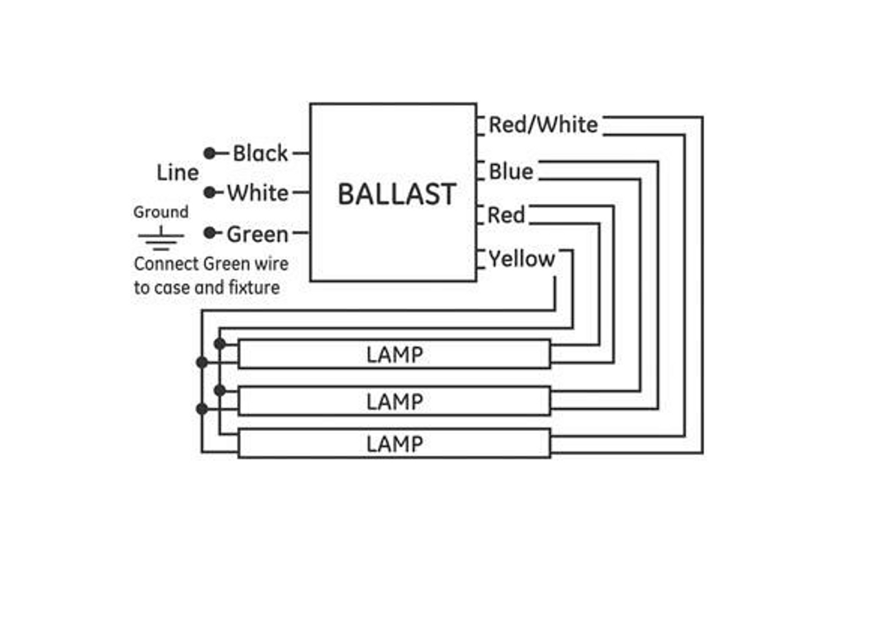Ge F40t12 Ballast Wiring Diagram - Wiring Diagram K8 on
