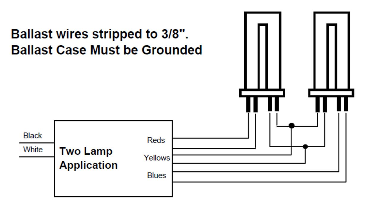 NOS C240PUNVHP-B Universal Lighting Ballast for 1 or 2 PL-L Lamps Rapid Start