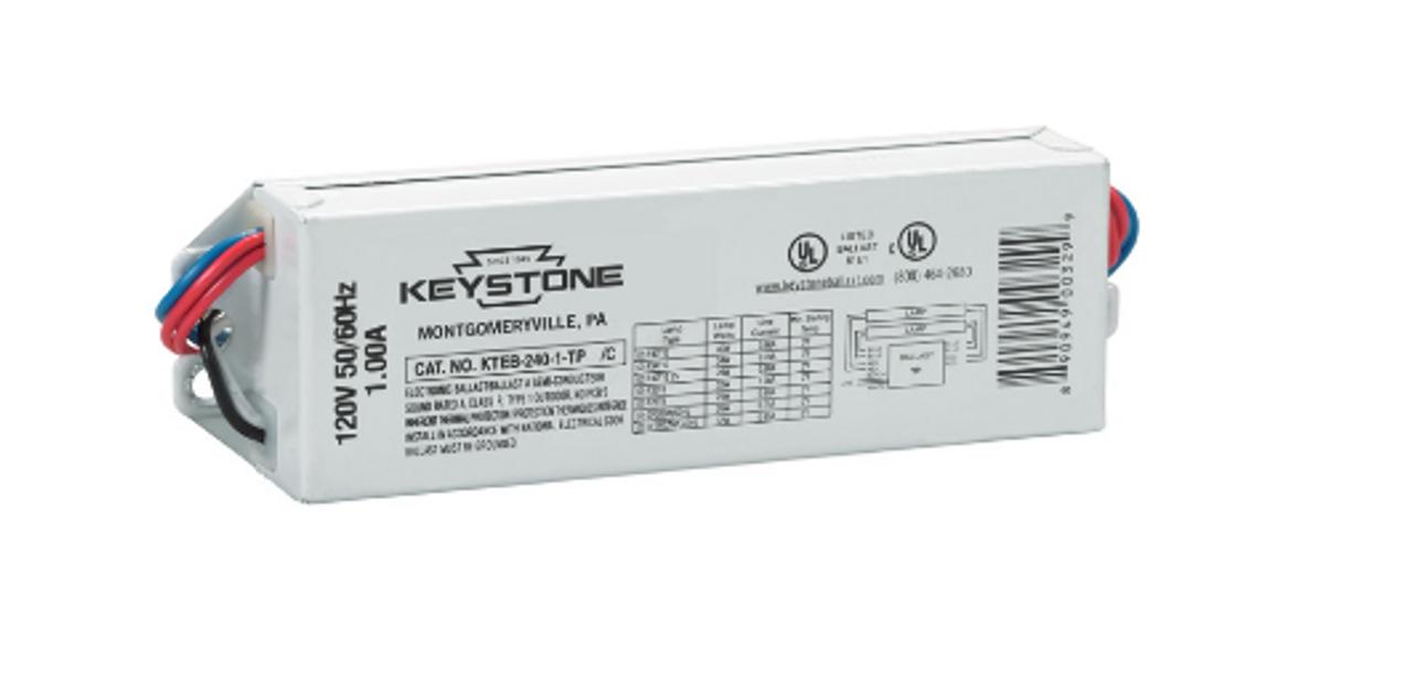 Ballast T12 T8 2 Bulb Fluorescent Fixture Replacement KTEB-240-1-TP//B Keystone