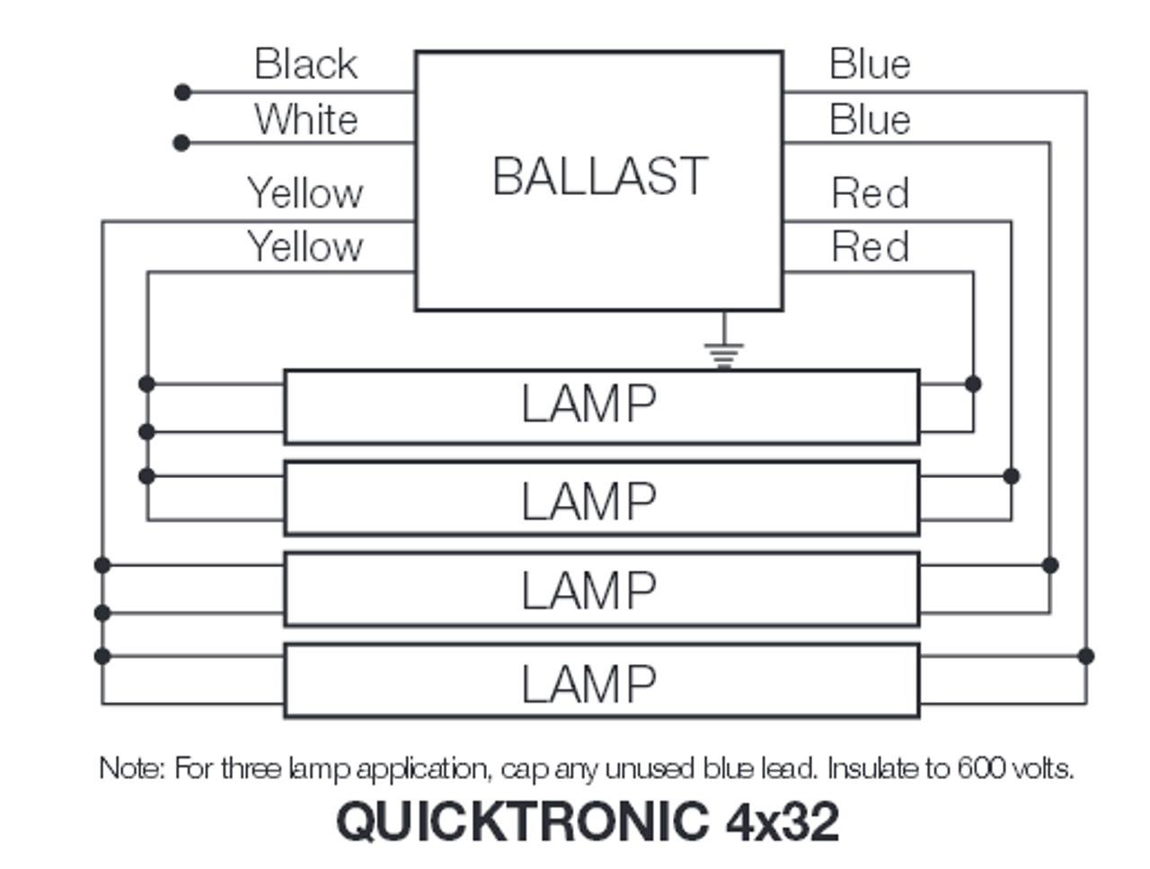 qtp4x32t8 unv isn sc sylvania 49947 electronic fluorescent ballast  sylvania qtp4x32t8 unv isn sc wiring