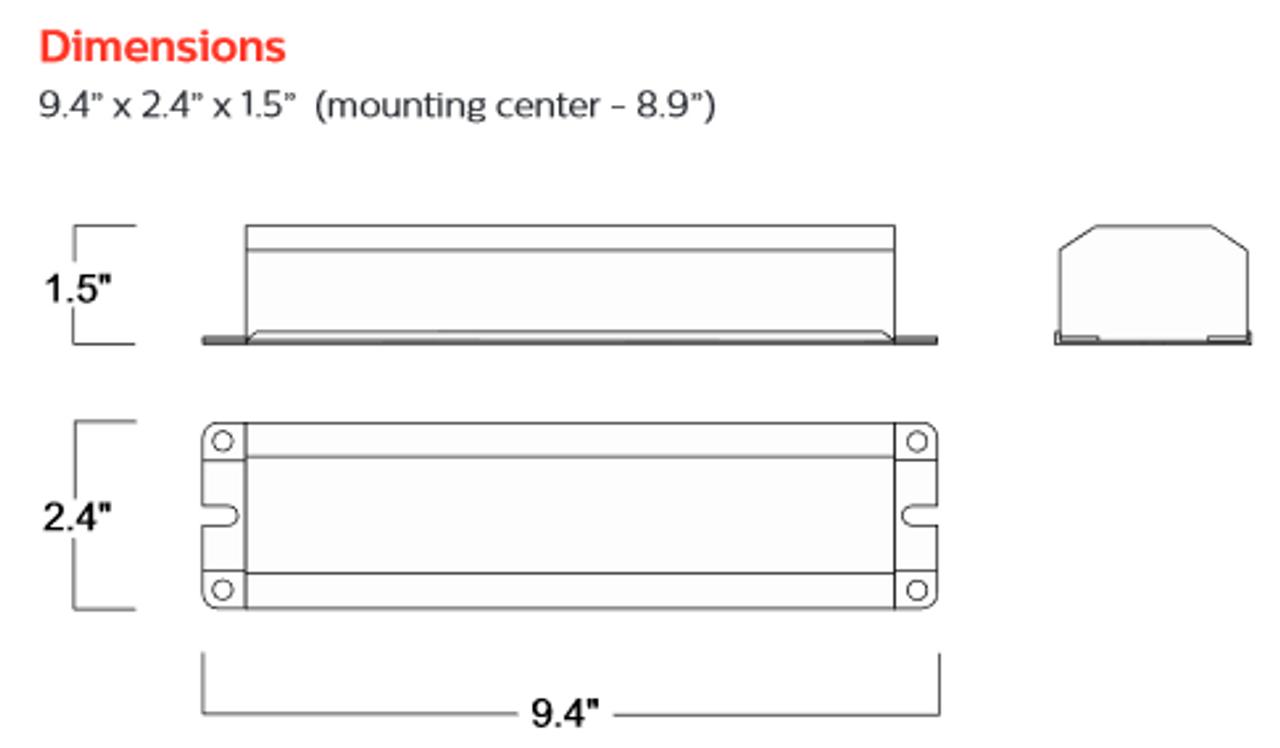 PHILIPS-BODINE B94CGU 18-42 W 750 lm Linear Fluorescent Emergency Ballast