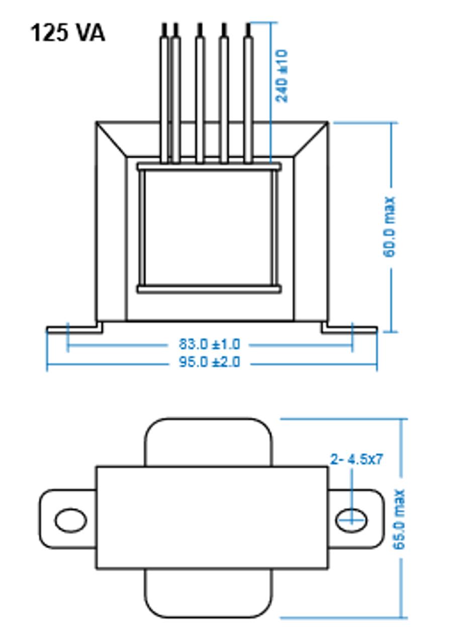 TRP 480:347:277-125VA Step Down Transformer on