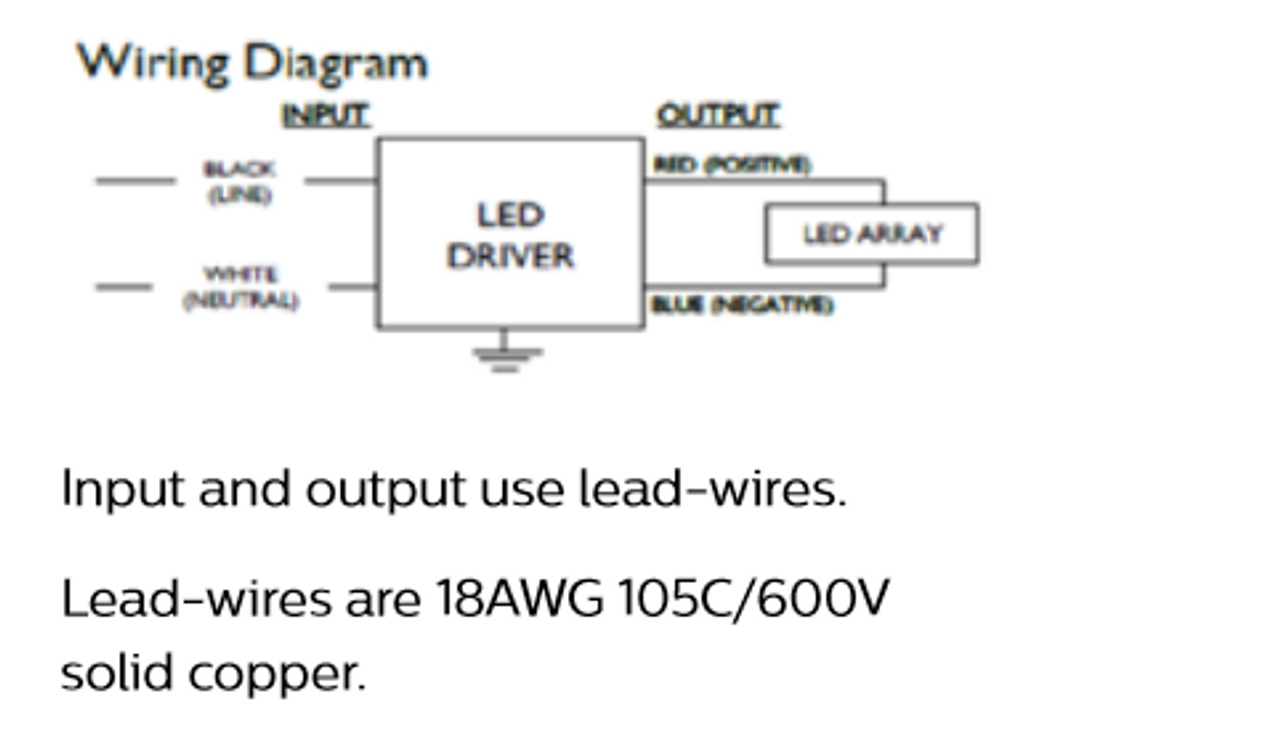 PHILIPS ADVANCE LEDINTA0350C425FO LED Driver,120-277VAC Open Box Appear Unused