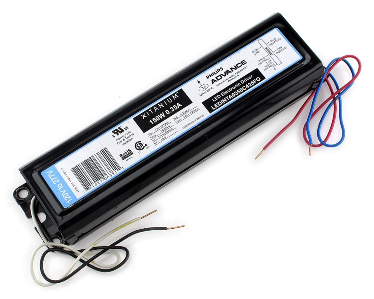 Philips Advance Xitanium Ledinta0350c425fo LED Electronic Driver 150w .35a for sale online