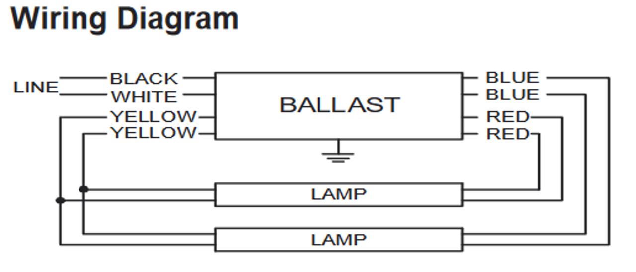 IOP-2PSP32-N Advance Electronic Fluorescent Ballast | Advance Fluorescent Ballast Wiring Diagram |  | BallastShop.com