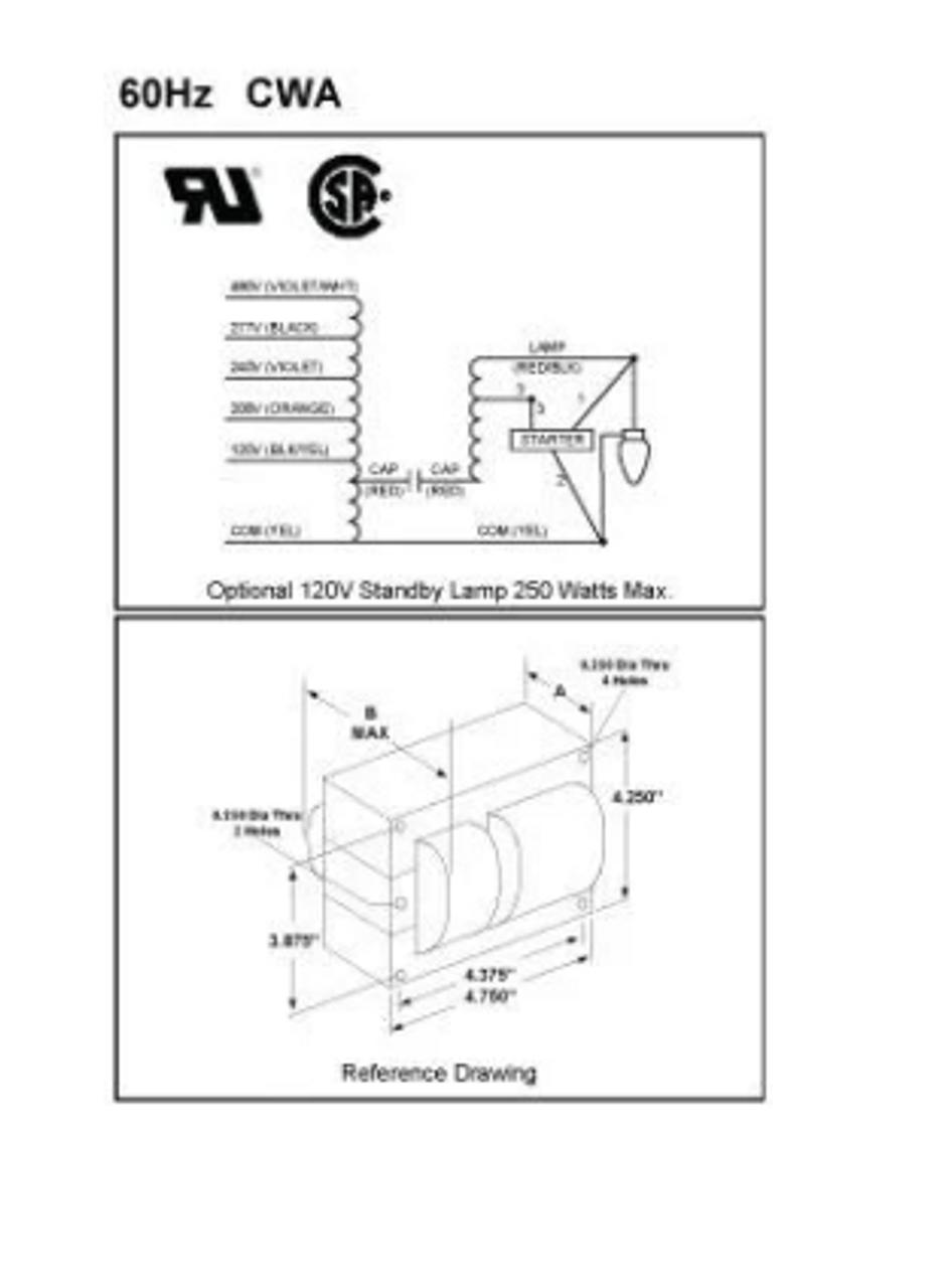 S400ml5ac4m 500k Universal 400w Hps Ballast Kit