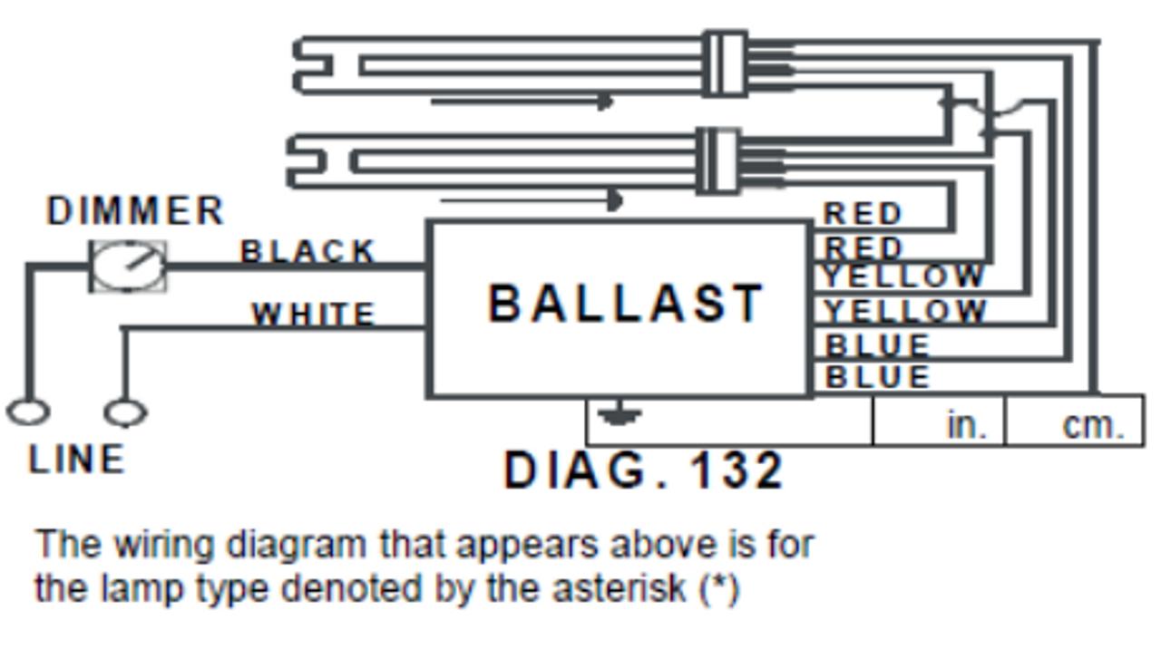 REZ-2Q26-M2-BS Advance Electronic Dimming CFL Ballast   Advance Dimming Ballast Wiring Diagram      BallastShop.com