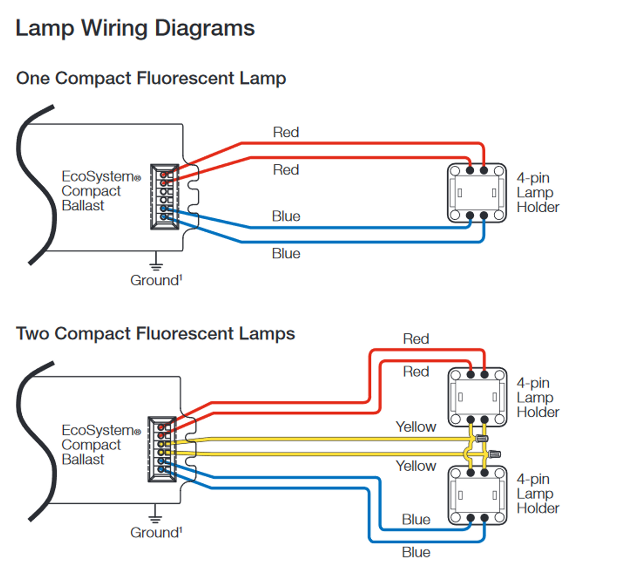 diagram for wiring 4 pin floursent wiring diagram  4 pin compact fluorescent wiring diagram #2