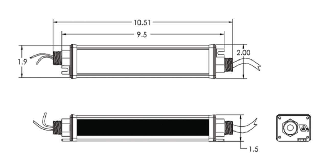 CVW125-MV Allanson 60W 12VDC Waterproof LED Power Supply on
