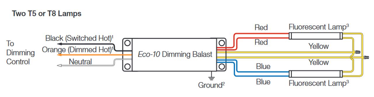 lutron ecosystem ballast wiring diagram eco t554 120 2  now ec5t554junv2  lutron dimming ballast  eco t554 120 2  now ec5t554junv2