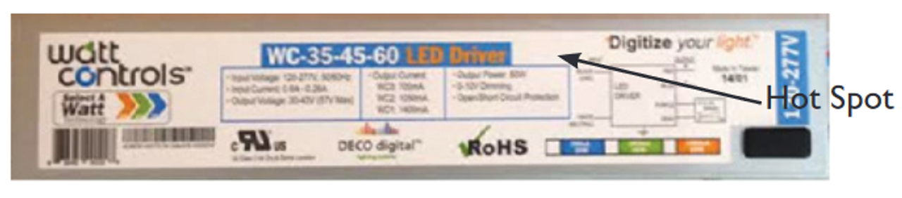 FROM NEW FIXTURE WC-35-45-60 Deco Lighting Select-a-Watt Adjustable LED Driver