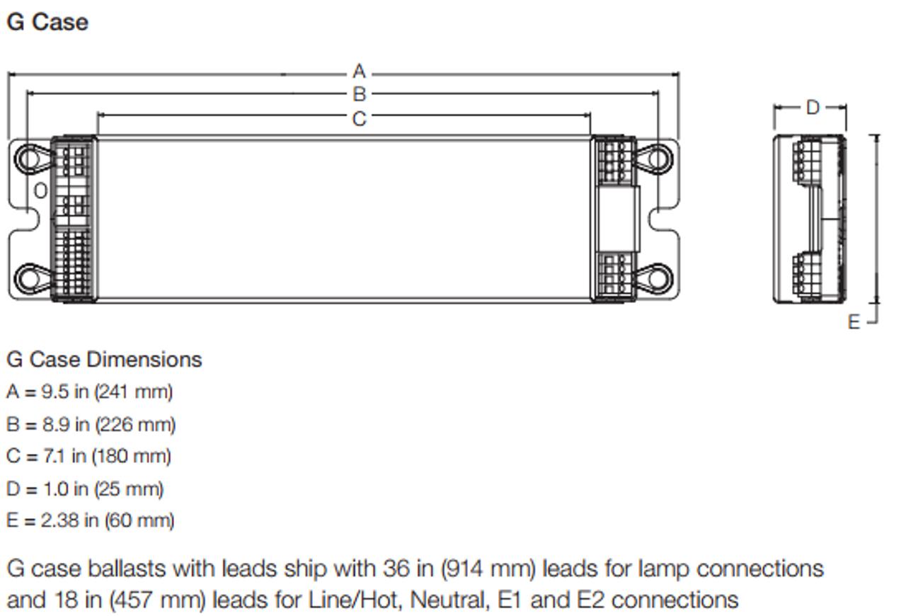 LUTRON EcoSystem Ballast EC-5-T832-G-277-3-L