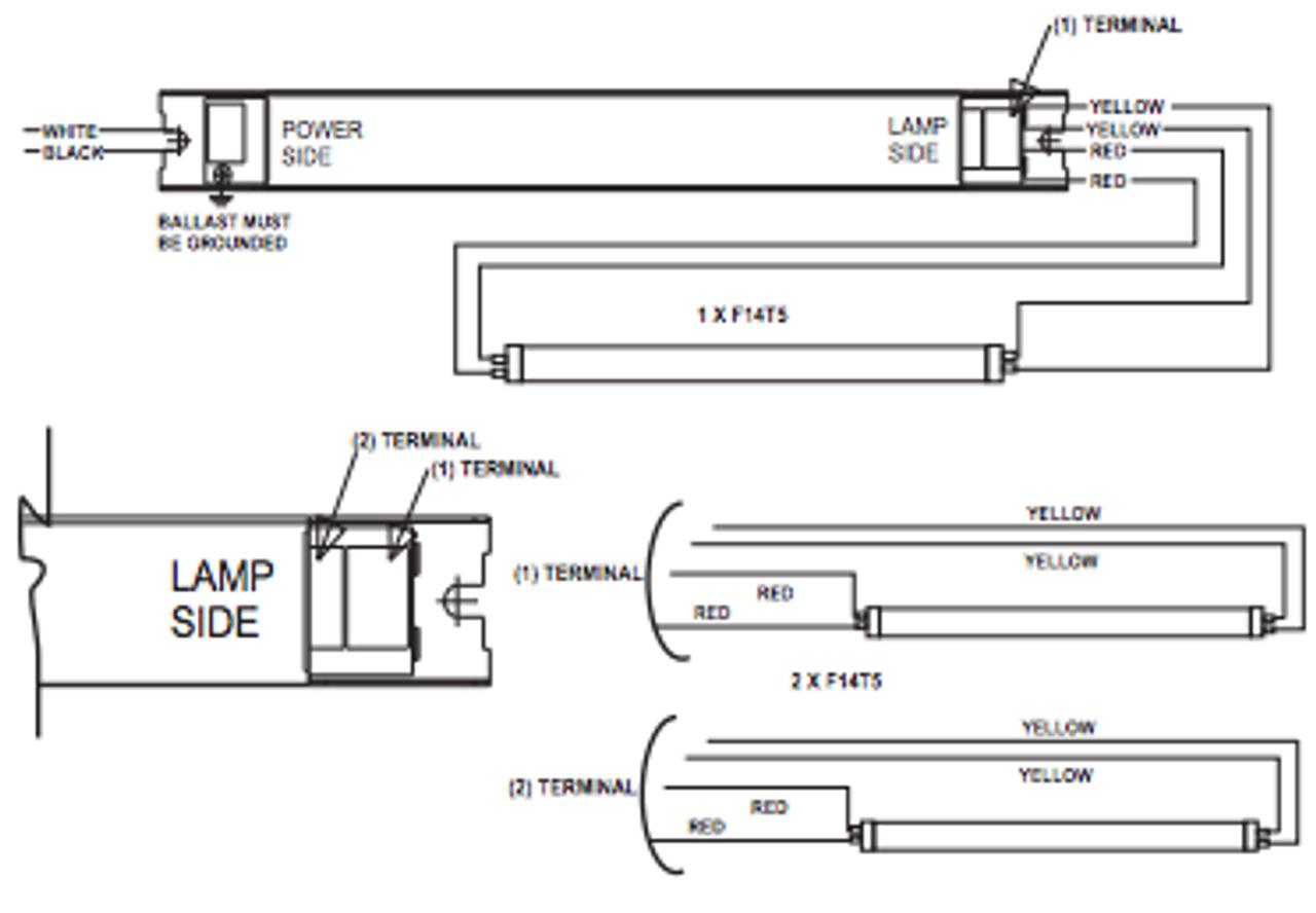 NPY-120-214-LT5 Fulham Pony T5 Ballast | Workhorse Ballast T5 Wiring Diagram |  | BallastShop.com