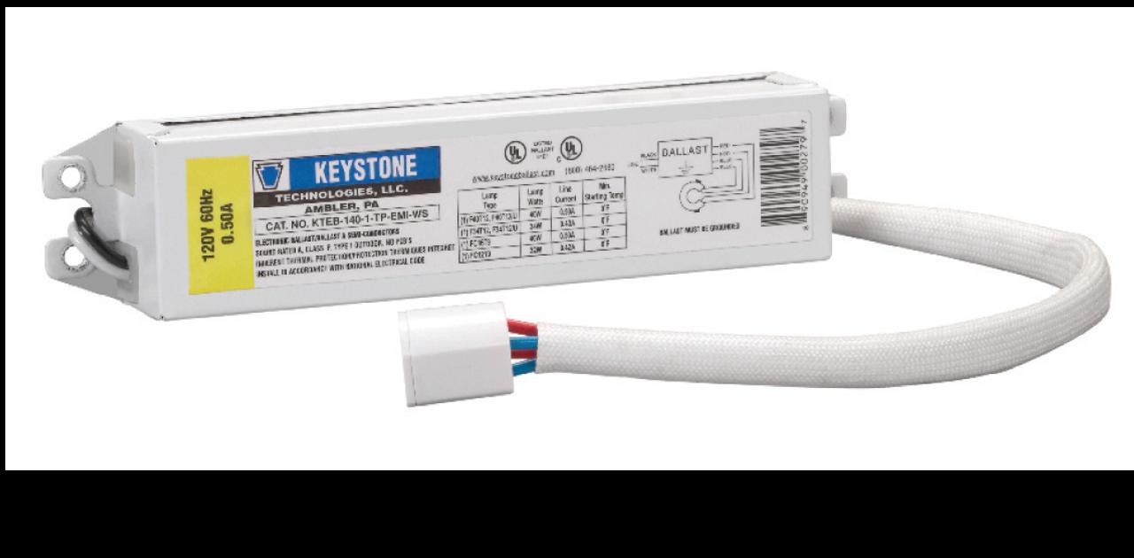 KTEB-140-1-TP-EMI 1 Lamp F40 T12 Electronic Fluorescent Ballast 120V Keystone