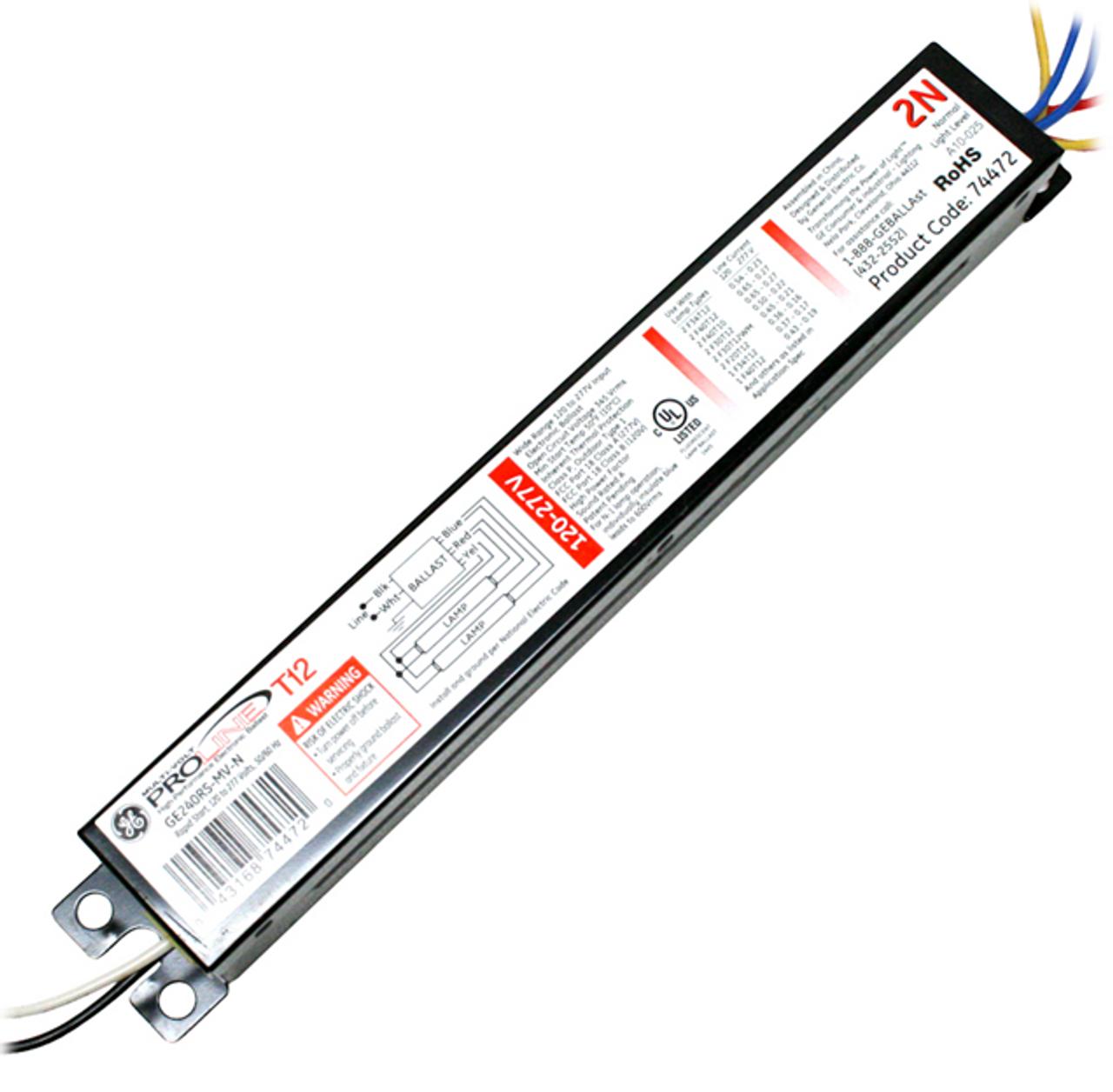 Ge240psmvn 74472 Ge Multivolt Proline Electronic Ballast. Ballast Ge240psmvn 74472 Ge. Wiring. General Electric Ballast Wiring Diagram 240 At Scoala.co